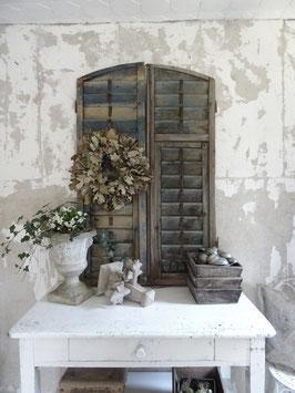 VERKAUFT Reb 19.04.   132cm PAAR antike Fensterläden grandiose Patina