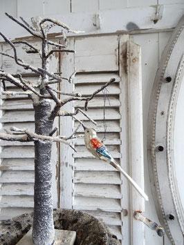 uralter Glasvogel zum hängen - mehrfarbig