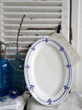 40cm antike Platte V&B Blaudekor