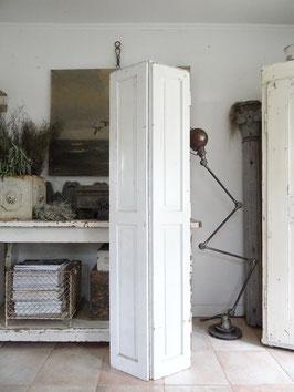 169cm uralter Fensterladen - alter weißer Lack II