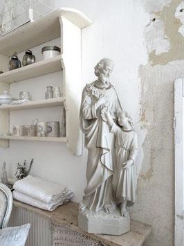 VERKAUFT Kah 19.08.     100cm antike Statue VAter & Sohn aus Belgien