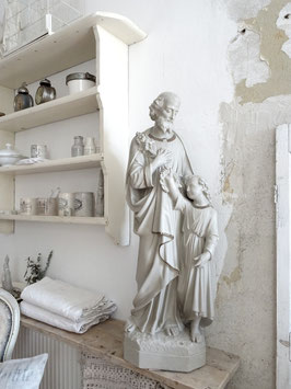 100cm antike Statue VAter & Sohn aus Belgien