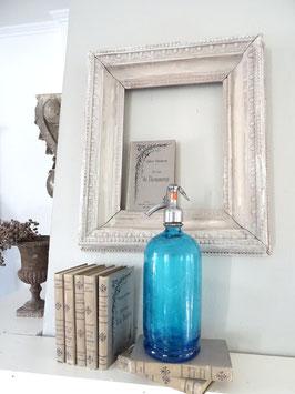 URALTE Sodaflasche aus Frankreich - royalblau LAVOREL LYON