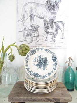 21cm Teller VILLEROY&BOCH Keramik Blaudekor BROMBEERE
