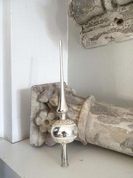 28cm uralte Baumspitze silber weiß
