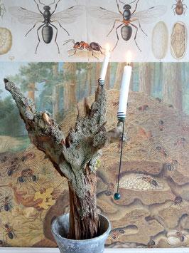 uralter Kerzenhalter / Pendelhalter DUNKELGRÜN