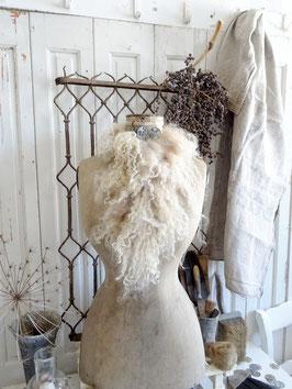 Schafwolle 170gr für die Deko gräulich-bräunlich-creme