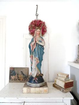 86 cm imposante Statue antike Madonna - Mutter Gottes