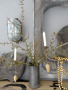 Antiker Pendelhalter gold Zapfen