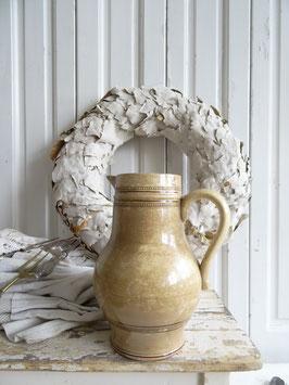 1L antiker Krug bombastische Patina Keramik
