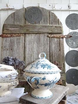antike Terrine SARREGUEMINES Blaudekor CARMEN