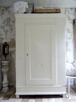 VERKAUFT Pae 14.06.   antiker grosser Schrank / Wäscheschrank - alter weißer Lack - feine Patina