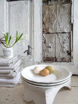SOCIETE CERAMIQUE Wellenrand tiefer Teller Suppenteller weiße Keramik