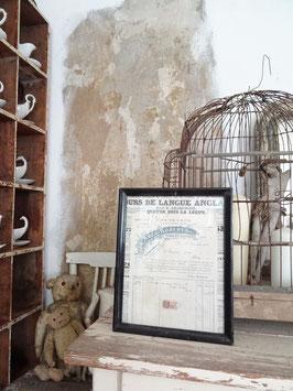 antike gerahmte franz Rechnung - schwarzer antiker Rahmen