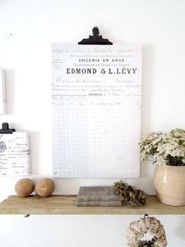 EDMOND französische Rechnung 60x40cm Leinwanddruck