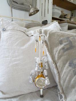 31cm sehr alte Baumschspitze silber/gold 6 Glocken