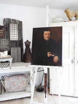 antikes Portrait Gemälde Advokat? Geistlicher?