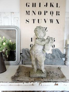 VERKAUFT LeD 05.04.   58cm uralte Putte Steinfigur aus Frankreich