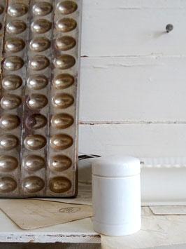 antike Salbendose / Deckeldose - 25weißes Porzellan