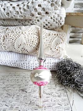 23cm uralte Baumspitze rosa-weiß
