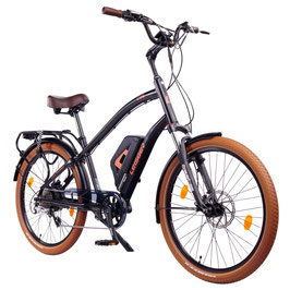 "EPAC, Modell: Leisger CD5, 26"" E-Bike Cruiser, 36 V 14 Ah Panasonic, matt schwarz"