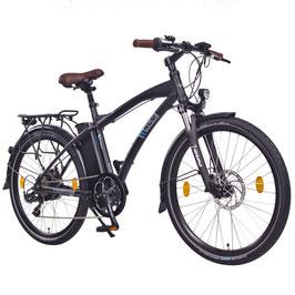 "EPAC, NCM Essen 26"" Damen / Herren City Urban E-Bike 36 V 13 Ah 468 Wh Akku matt schwarz"