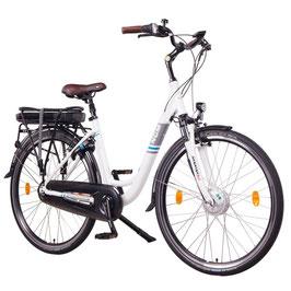 """EPAC, NCM Munich N8C, 28"""" City E-Bike, 36 V 13 Ah 468 Wh Li-Ion Zellen Akku, mit Rücktrittbremse, weiß"""