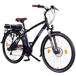 """EPAC, NCM Hamburg 28"""" City E-Bike, 36 V 13 Ah 468 Wh Li-Ion Zellen Akku, mit mechanischen Scheibenbremsen, schwarz"""