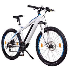"EPAC, NCM Moscow 29"" E-MTB, Mountainbike, E-Bike, 48 V 13 Ah 624 Wh Akku, matt weiß, blau"