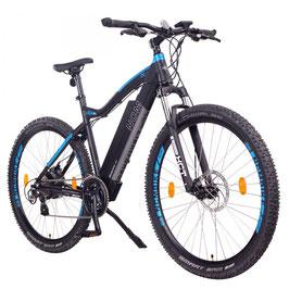 "EPAC, NCM Moscow 29"" E-MTB, Mountainbike, E-Bike, 48 V 13Ah 624 Wh Akku, matt schwarz, blau"