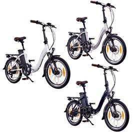 """EPAC, Modell: NCM Paris, 20"""" E-Faltrad, E-Bike, Pedelec 36 V 15 Ah 540 Wh"""