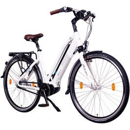"EPAC, Modell: NCM Milano MAX 28"" Damen/Herren Elektrofahrrad, E-Bike, Pedelec 36 V 14 Ah 504 Wh, weiß"