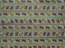 Tiger und Löwe in der Savanne