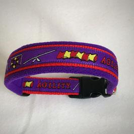 Halsband ,Agility' violett Gr. S/M