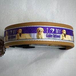 Halsband ,Golden Retriever lila' Gr. M/L