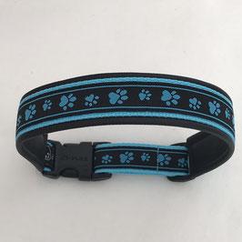 Halsband ,Pfötli' blau Gr. L