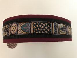 Halsband ,Blatt bordeaux' Gr. XXL