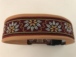 Halsband ,Blumen' Gr. XL