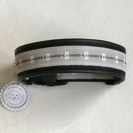 Halsband ,Edelweiss hellgrau' Gr. L