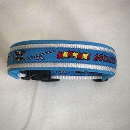 Halsband ,Agility' hellblau Gr. M/L