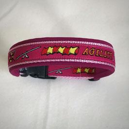 Halsband ,Agility' pink Gr. M/L