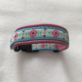 Halsband ,rosa Blüemli' Gr. XS