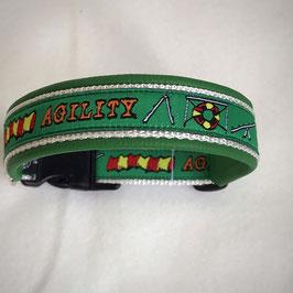 Halsband ,Agility' grün Gr. S/M