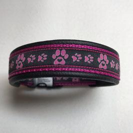 Halsband ,Pfötli fuchsia' Gr. S/M