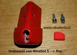 Ninebot Umbauset S auf Pro Lenkeraufnahme rot mit Schrauben und Pfropfen
