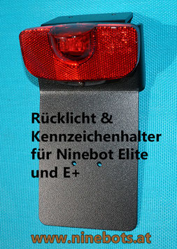 Rücklicht und Kennzeichenhalter Ninebot Elite und E+