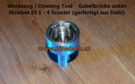 Ninebot Scooter Opening Tool Gabelbrücke unten