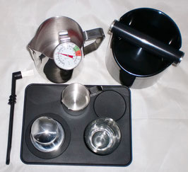 [JoeFrex]® 9-tlg. Barista Set Black * Knockbox * Tamper*Tamperstation* etc..