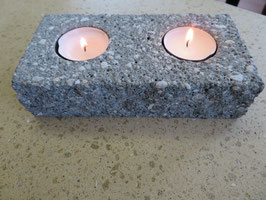 Kerzenhalter 2-Flammig Antrazith