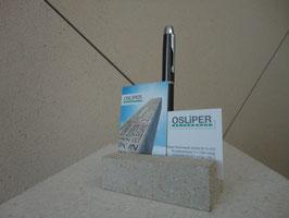 Visitenkartenhalter mit Kugelschreiberloch